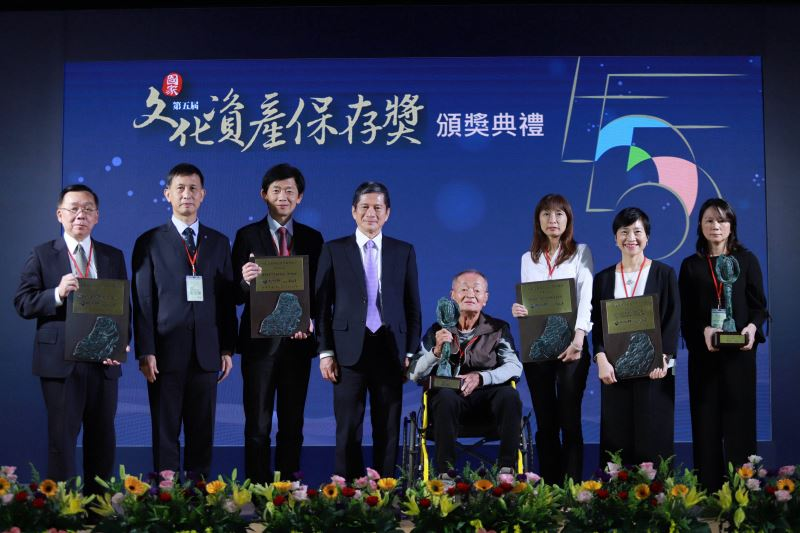 Winners of National Cultural Heritage Preservation Awards honored at Taichung ceremony