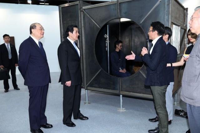 馬総統、台湾アート作品の国際化を支持 発展に意欲示す=芸術博覧会開幕