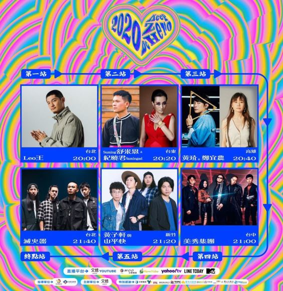 【文化台湾】いつでもどこでも楽しむ台湾文化!「2020 Keep Zero, BeHero 愛で〇を描く」オンラインライブコンサートは今夜9時配信します!