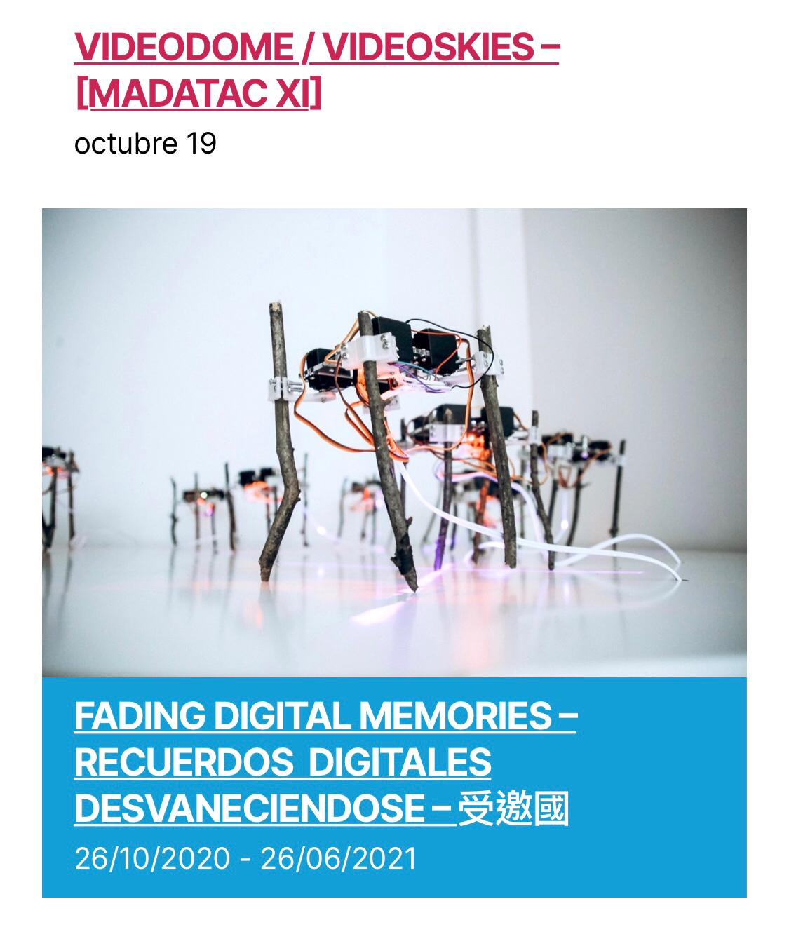 Taiwanese artists reflects on memories in a digital age at MADATAC XI
