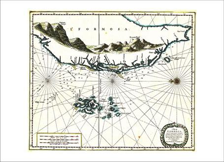 地圖明信片8-福爾摩沙島海圖