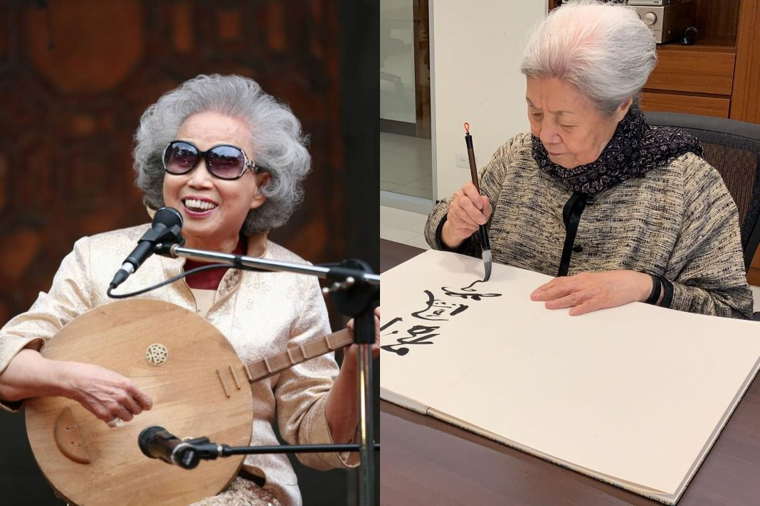 Choreographer Liu Feng-shueh and chant-singer Yang Xiu-qing honored with National Cultural Award