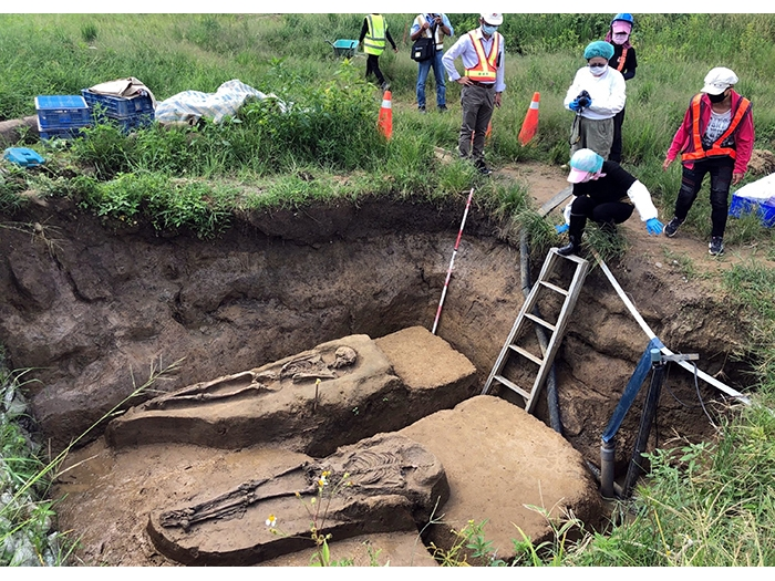 2500-year-old human remains excavated during railway construction in Chiayi