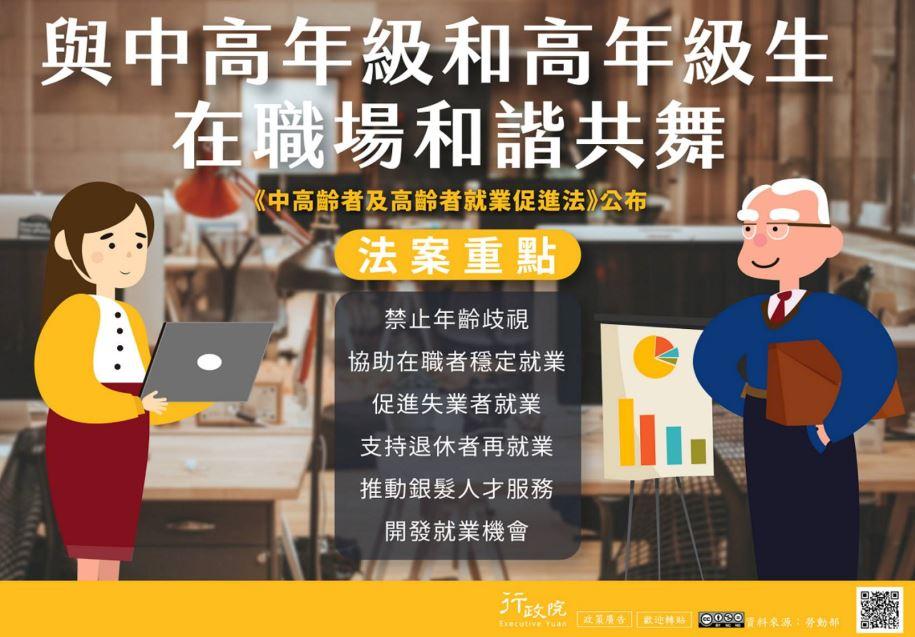 推廣《中高齡者及高齡者就業促進法》文宣事