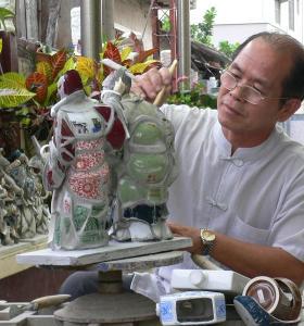 Cut-and-paste Ceramics Master   Chen San-huo
