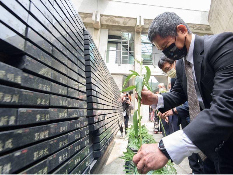 國家人權博物館舉辦110年威權統治下政治受難者追思紀念會