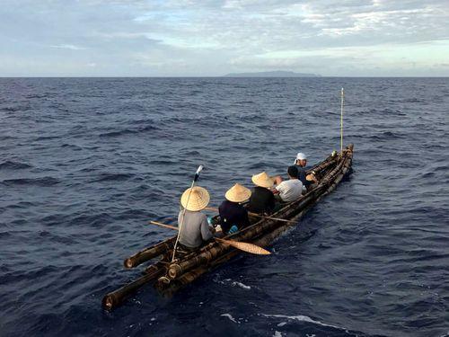 台日の有志、竹筏舟で黒潮に挑戦 3万年前の航海再現プロジェクト