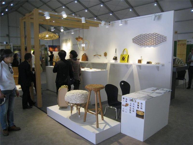 工藝新趣成果作品參與2015世界竹博覽會展場概況