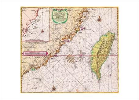 地圖明信片6-中華沿海地區海圖:廣東、福建與福爾摩沙島