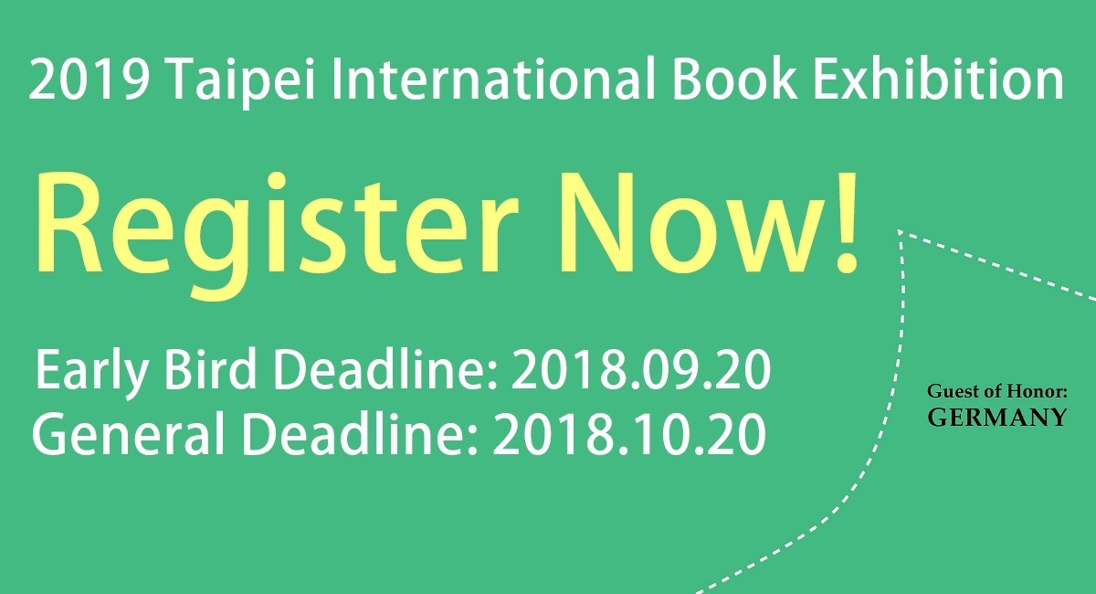 2019 Taipei International Book Exhibition: Call for Exhibitors