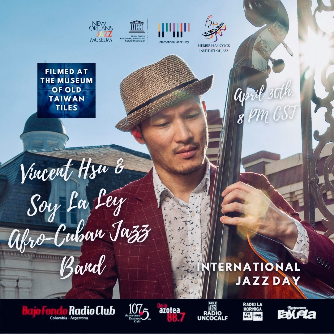Taiwanese musician Vincent Hsu performs at New Orleans Jazz Museum's International Jazz Day program