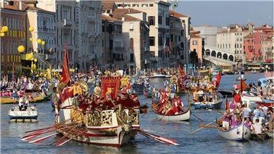 歐洲版划龍舟競賽 威尼斯賽船節  熱鬧又有趣