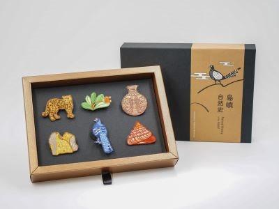 島嶼自然史-刺繡別針禮盒組