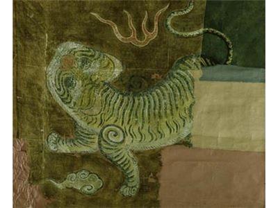 藍地黃虎旗