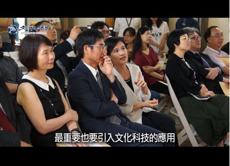 麗君部長說:藉由文化科技的運用,讓大家說具有台灣味的故事!